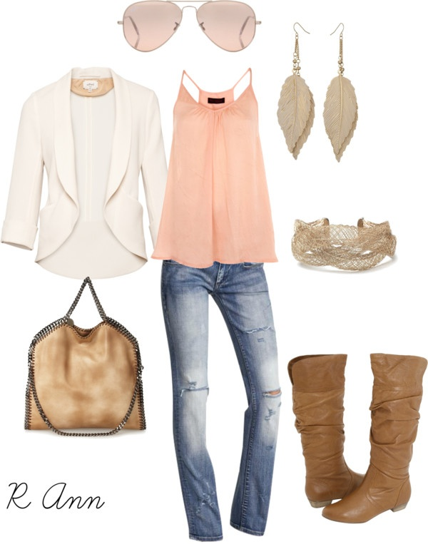 Fall!: Pink Lady, Fall Style, Outfits W Pink Boots, White Blazers, Diy Tutorial, Pale Pink, Fall Outfits, Blazers Outfits, Blazers Jeans Pink