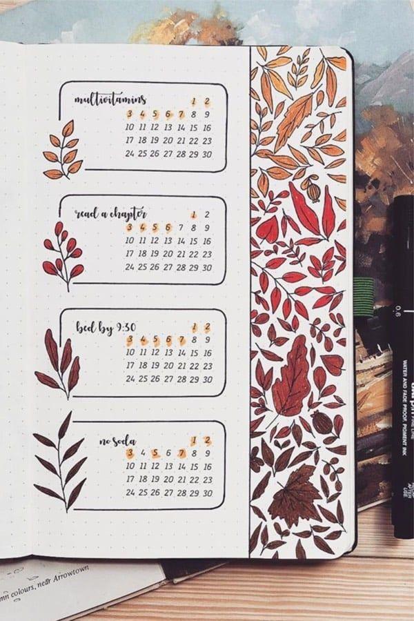 25+ Best September Habit Tracker für Bujo-Süchtige