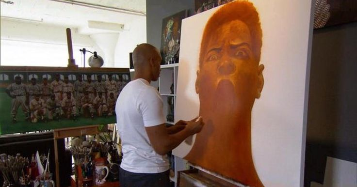Kadir Nelson is an artist unknown to many. But you'll find his work on magazines, albums, posters and postage stamps. Then there are the children's books - more than two dozen of them. Ben Tracy meets the illustrator who counts Norman Rockwell and N.C. Wyeth among his influences - and who explains what happens when his paintbrush starts to sing.