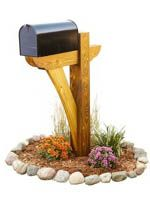 Timber Frame Mail Box Post Woodworking Plan, mail box posts,rural mailbox stands,downloadable PDF,patterns,woodworking plans,woodworkers projects,blueprints,WOODmagazine,WOODStore