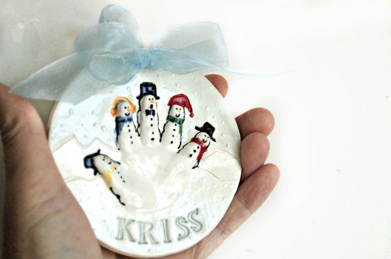 Personalized Baby Ornament Custom Baby di TheBabyHandprintCo