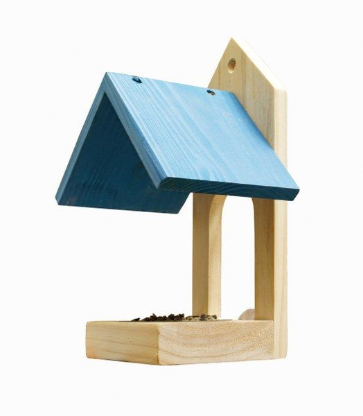 Błękitny karmnik na okno z miseczką ze stali nierdzewnej - Wildlife World - dzika przyroda w Twoim ogrodzie
