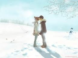 Love in the snowWinter Snow, Ga Ita, Cute Couples, Snow Pictures, Digital Art, Animal Couples, Manga, First Kisses, Winter Love