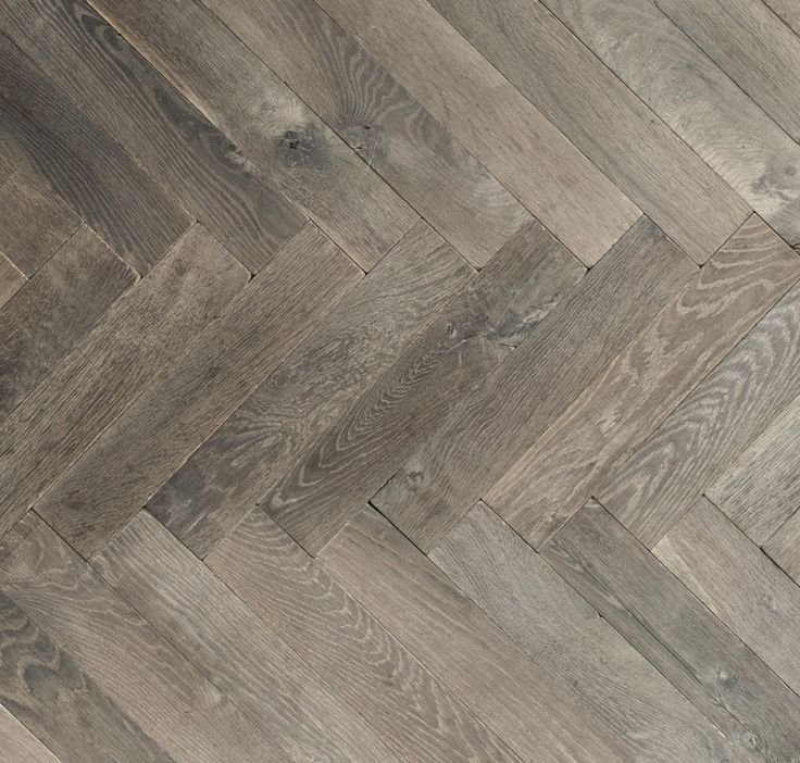Antique Grey Oak Herringbone Chelsea London