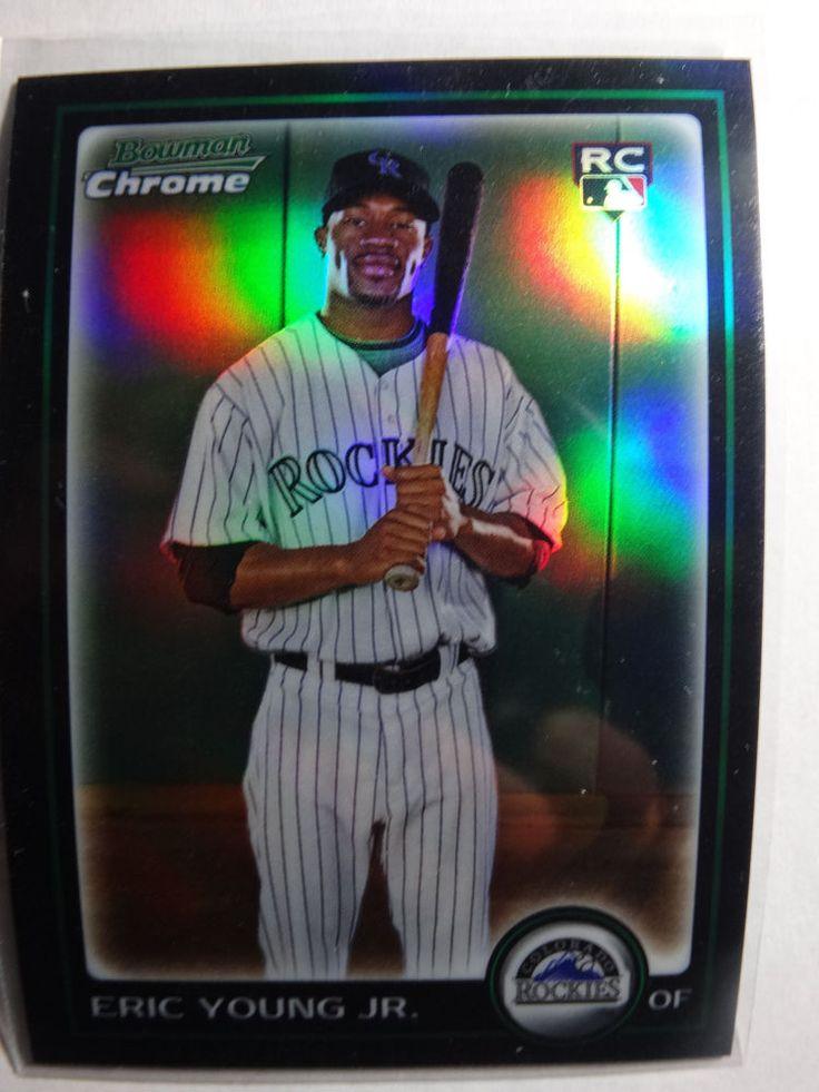 2010 Bowman Chrome #194 Eric Young Jr. Rockies Refractor Baseball RC Card #BowmanChrome #ColoradoRockies