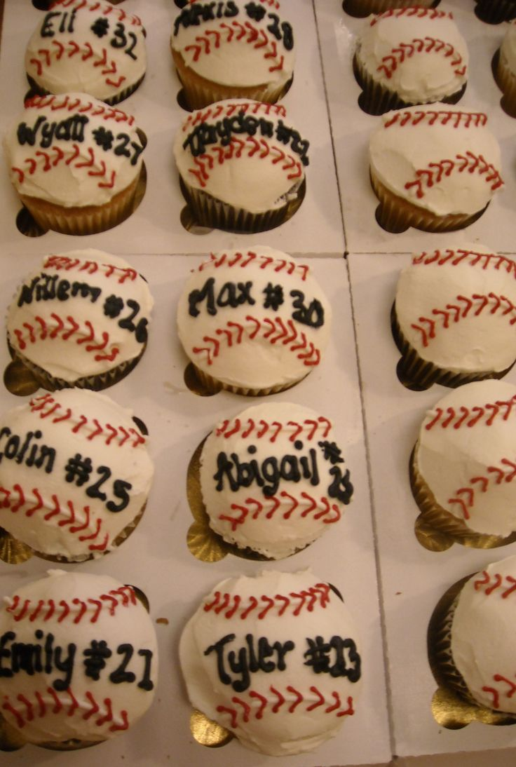 For end of season t-ball party!  With their names and numbers!