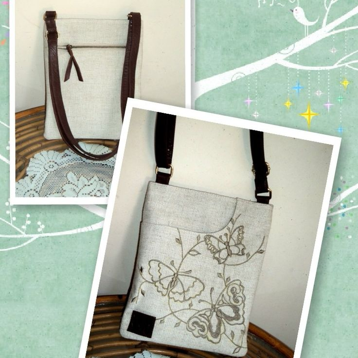 d`ep bag,leather and embroidery,fab : linen,sale