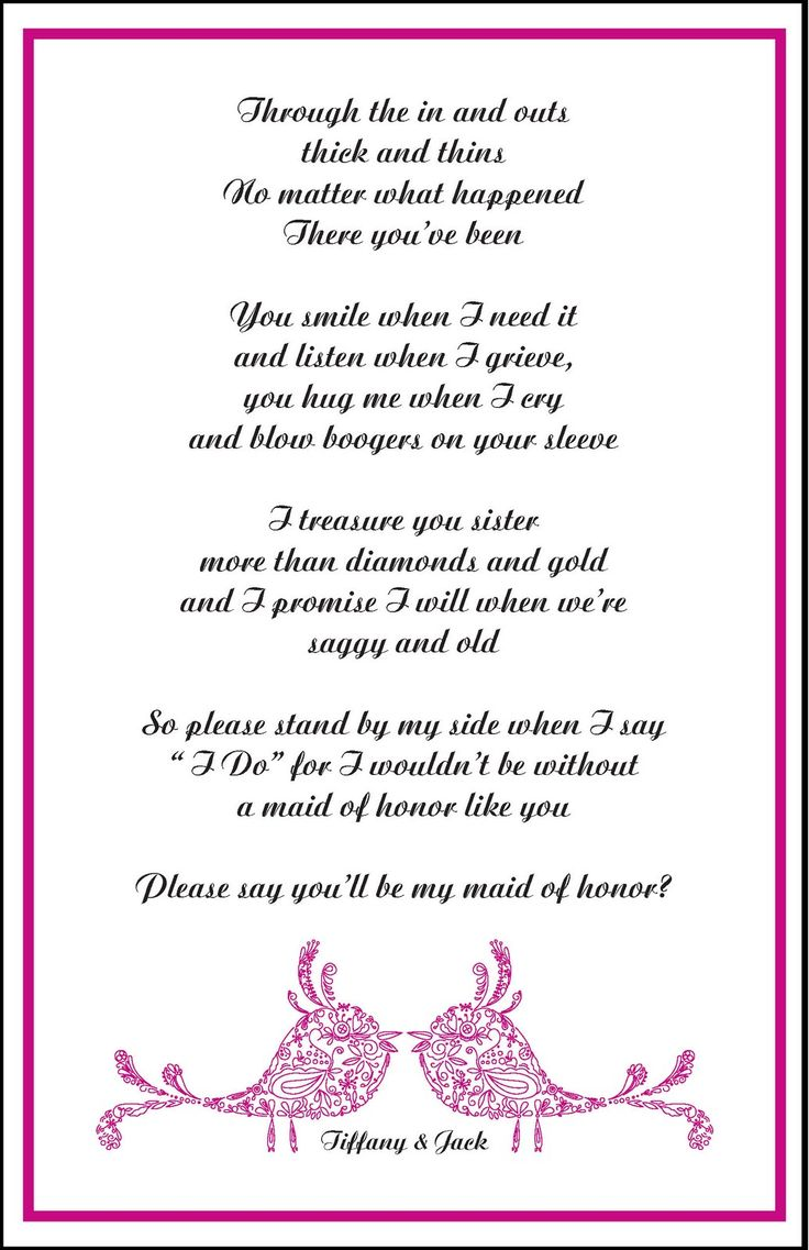 17 Best ideas about Bridesmaid Poems – Party Invite Poems
