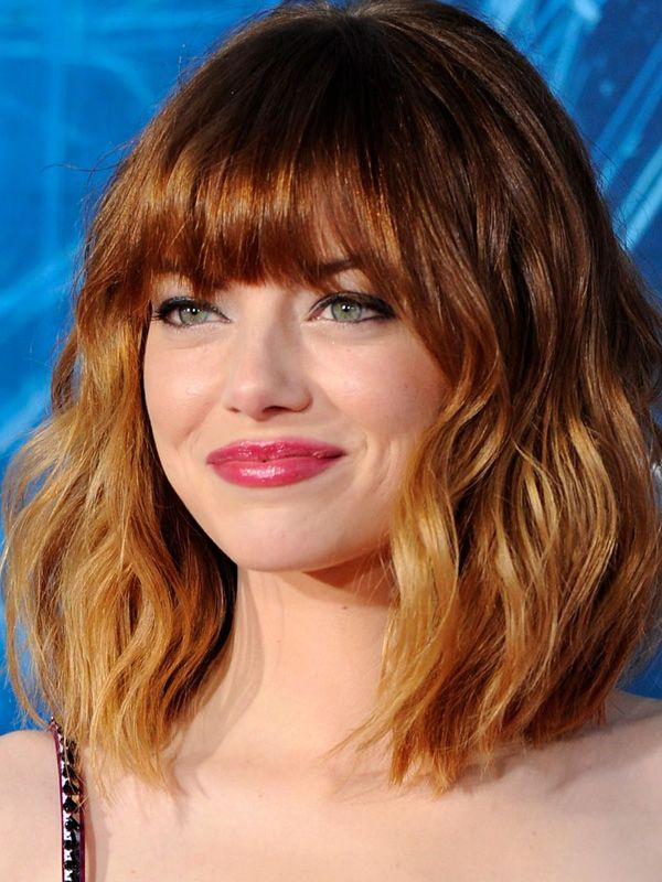 How to copy Emma Stone's exact look—berry lips, soft eyes and luminous skin—from the LA premiere of The Amazing Spider-Man 2: http://beautyeditor.ca/2014/04/25/emma-stone-makeup/