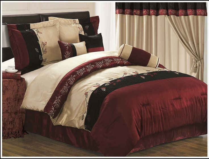 Red And Gold Comforters King Bedroom Sets Designs