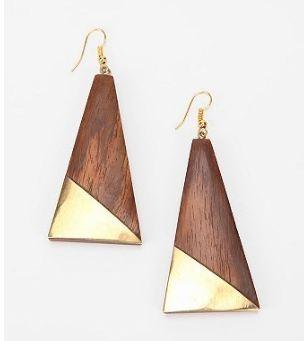 sunrise wood earrings