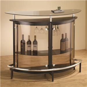 Bar Units and Bar Tables Contemporary Bar Unit with Smoked Acrylic Front by Coaster at Del Sol Furniture