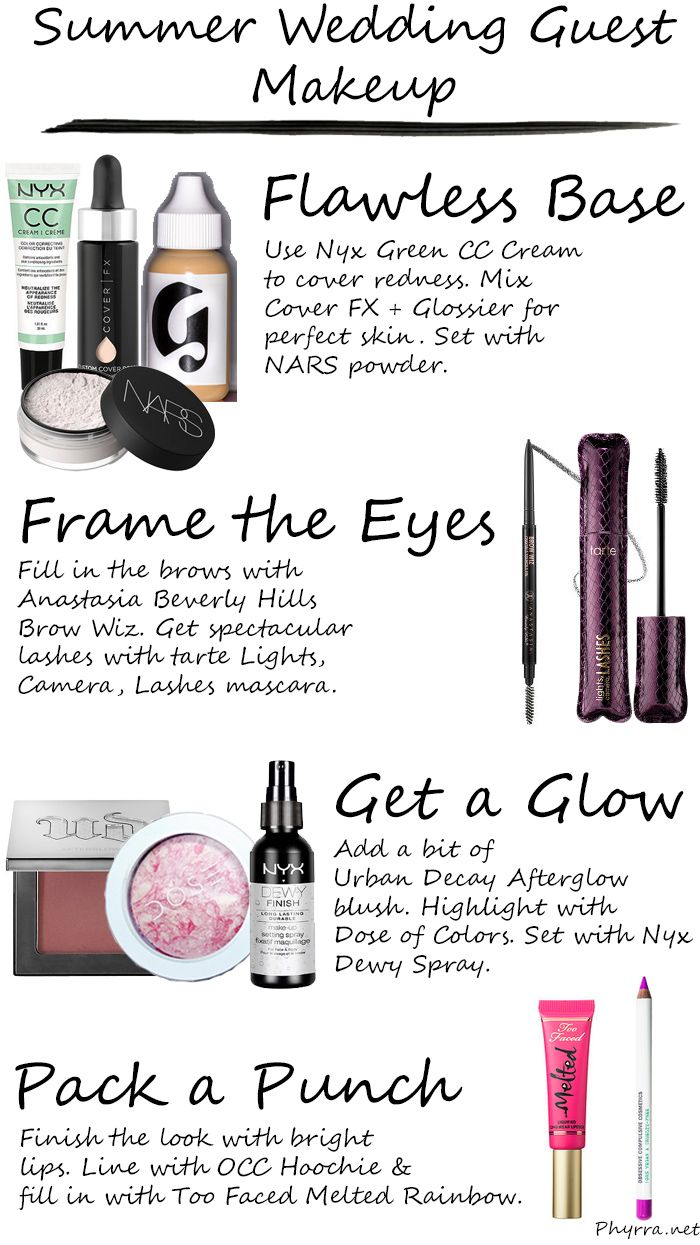 Phyrra shares her secrets for summer wedding guest makeup. See her finished look!