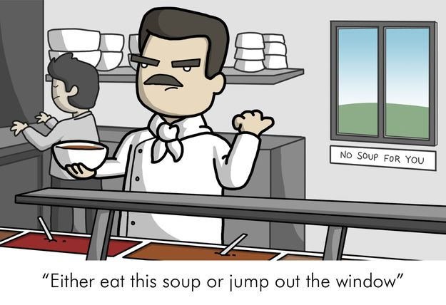 Either eat this soup or jump out the window | 13 Weird Italian Expressions Translated 13 Weird Italian Expressions Translated Literally Into English
