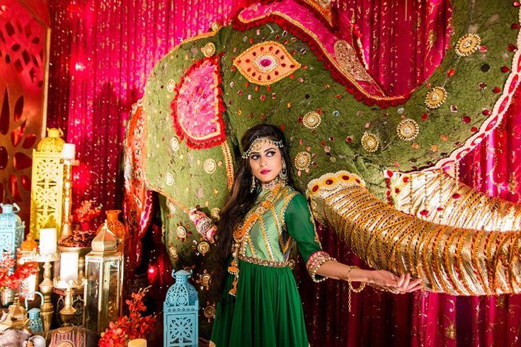 elephant wedding decoration for an indian mendhi party | decadent wedding ideas