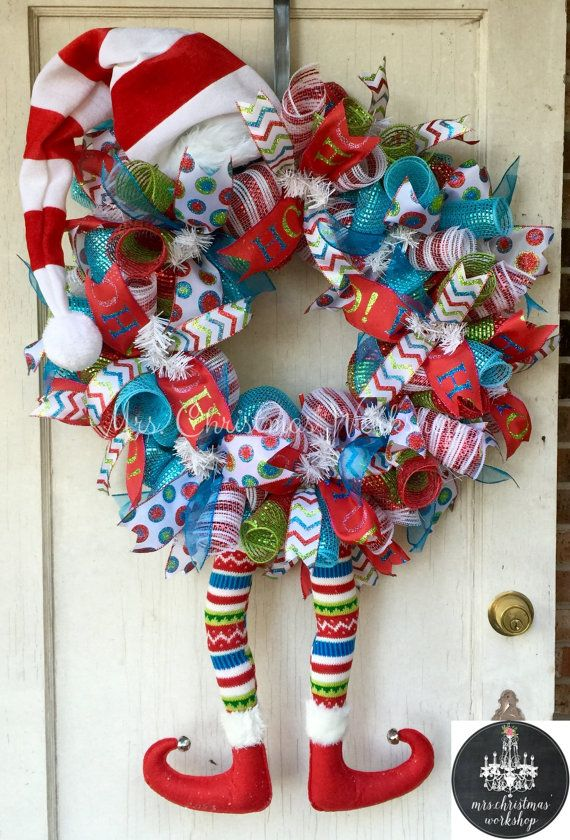 Hey, I found this really awesome Etsy listing at https://www.etsy.com/listing/253089824/christmas-wreath-elf-wreath-with-legs