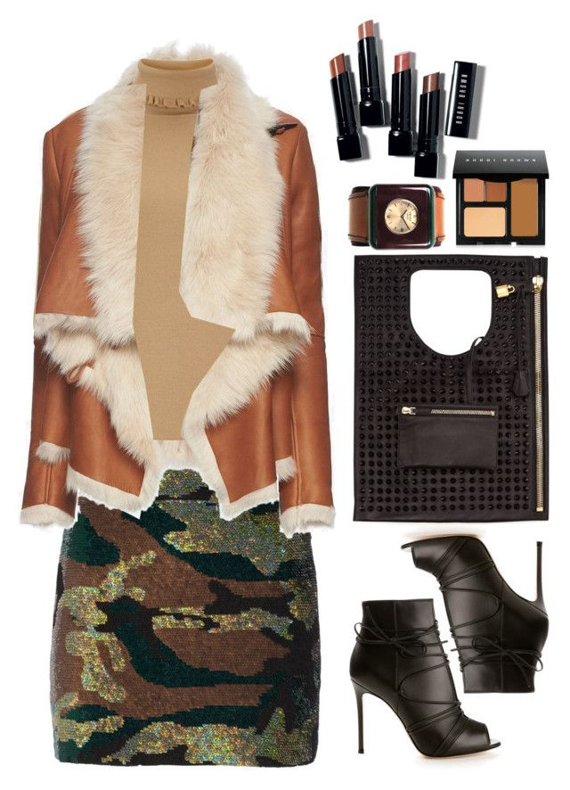 """""""Ashish Camouflage-sequined silk-georgette mini skirt"""" by thestyleartisan ❤ liked on Polyvore featuring Ashish, Mason by Michelle Mason, Gianvito Rossi, Bobbi Brown Cosmetics, Prada and J.W. Anderson"""