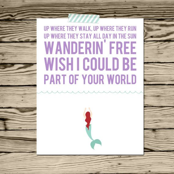 disney print ariel part of your world by simplysweetdesigns13