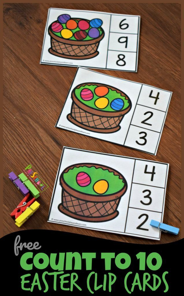 FREE Count to 10 Easter Clip Cards – this is such …
