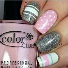 Sweety pink french nails 2014