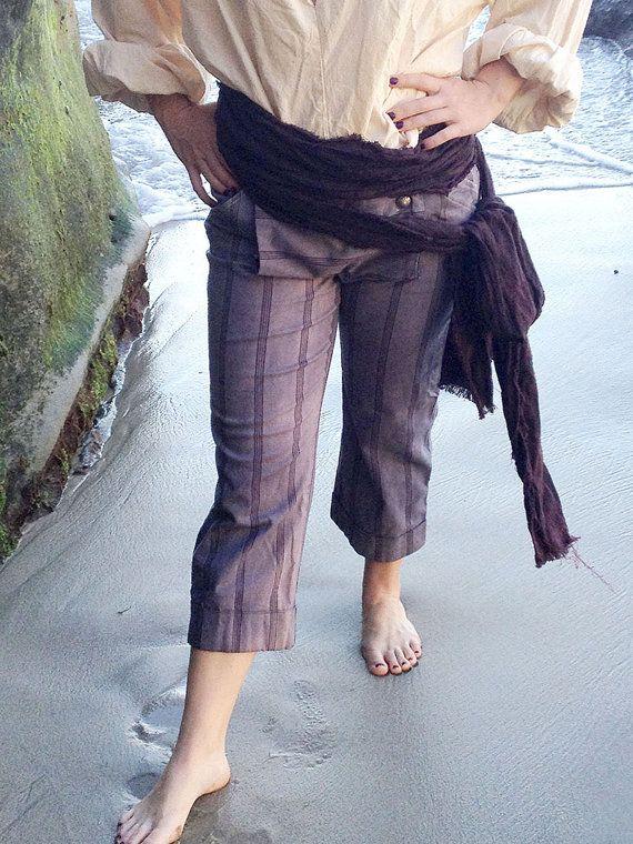 Burgundy Stripe weathered Cotton Authentic Pirate Costume Sash                                                                                                                                                                                 More
