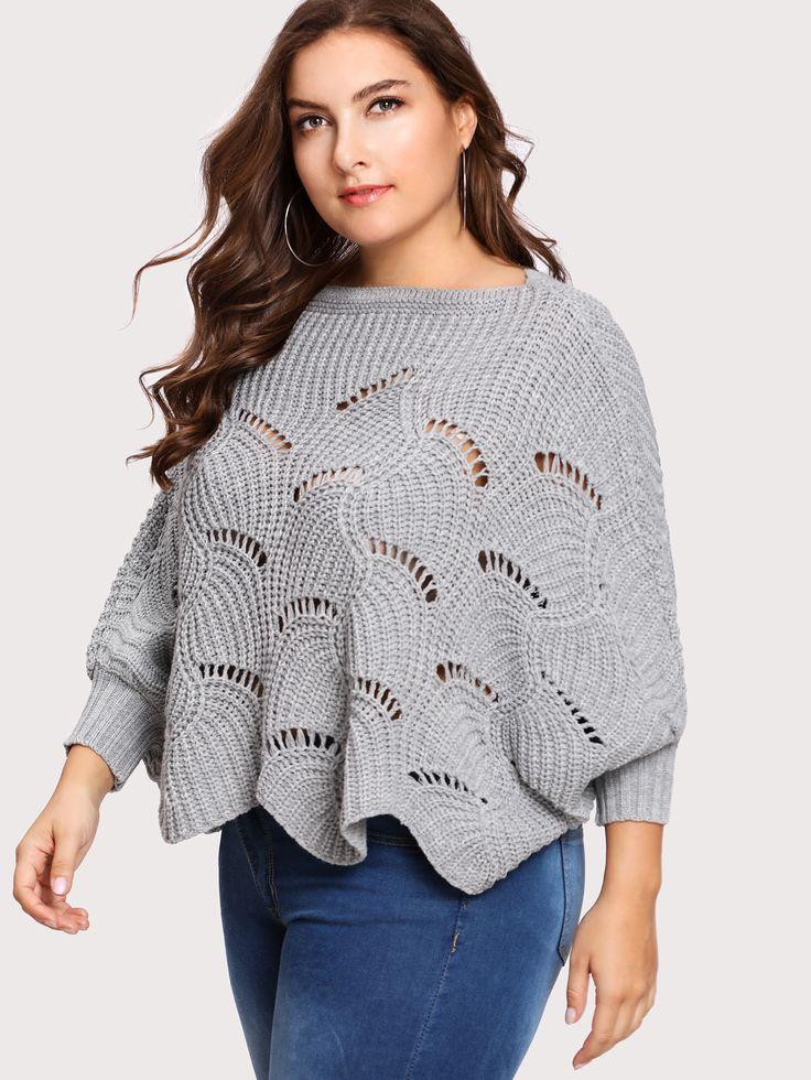 Shop Loose Knit Scalloped Hem Dolman Jumper online. SheIn offers Loose Knit Scalloped Hem Dolman Jumper & more to fit your fashionable needs.