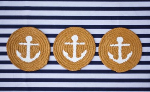 Cape Cod Collegiate: Anchors Ropes, Diy Coasters, Nautical Coasters, Changing Parties, Charms Nautical, Nautical Theme, Ropes Coasters, Nautical Diy, Crafts