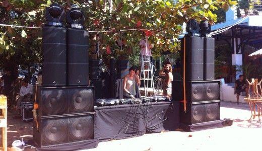 The DJ booth setup
