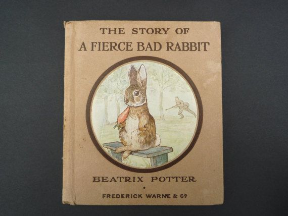 1916 Antique Beatrix Potter Book A Fierce Bad by APureVintage