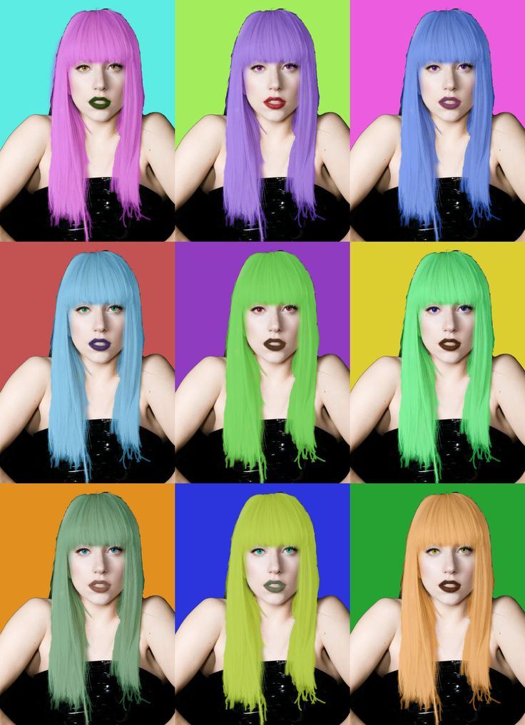 Lady Gaga pop art Photoshop