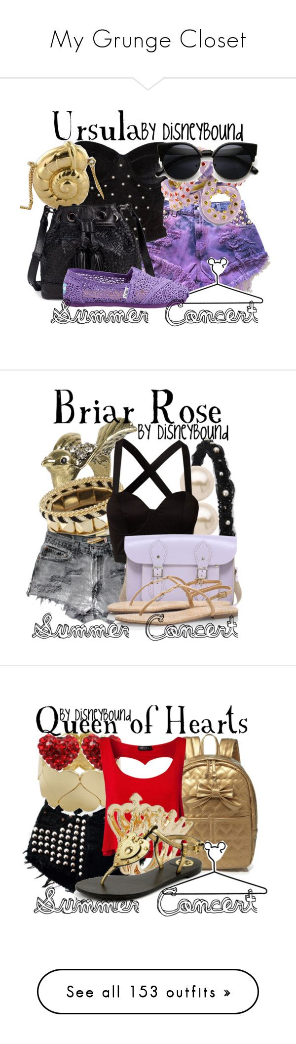 My Grunge Closet by paris-star on Polyvore featuring polyvore, fashion, style, Reverse, Elliott Lucca, Disney, TOMS, clothing, disney, Forever 21, NLY Accessories, ALDO, Levi's, Juliet & Company, Mimi Blix For Nelly, The Cambridge Satchel Company, Tory Burch, Tresor Paris, Club L, Topshop, Thierry Mugler, Isharya, Full Tilt, White House Black Market, H&M, Witchery, Cut N' Paste, Saint Tropez, Pull&Bear, King Baby Studio, Accessorize, Dorothy Perkins, Amrita Singh, Akira, MICHAEL Michael…