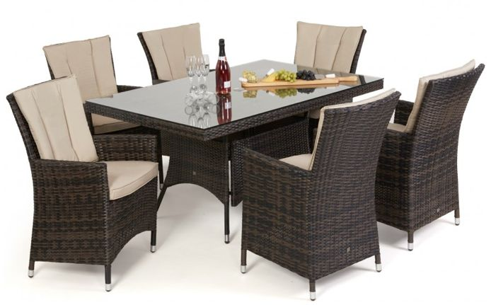 LA 6 Seat Dining Set - Koncept Furnishing