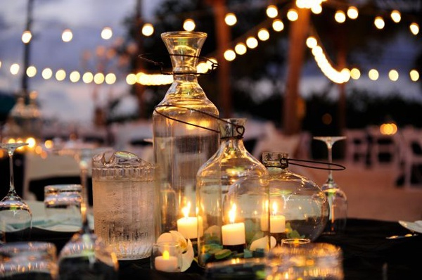 candles & jars. Celebrations Ltd | Cayman Weddings & Events