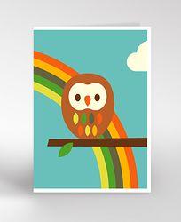 OWL & RAINBOW Card