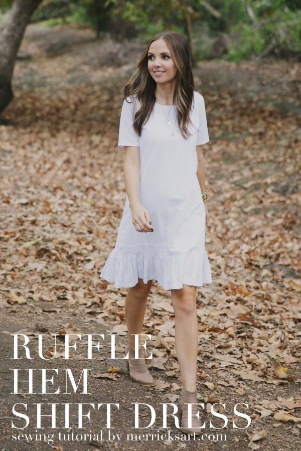 How-to DIY Your Own Ruffle Hem Shift Dress by Merrick White | fashionindie - live life fashionably independent