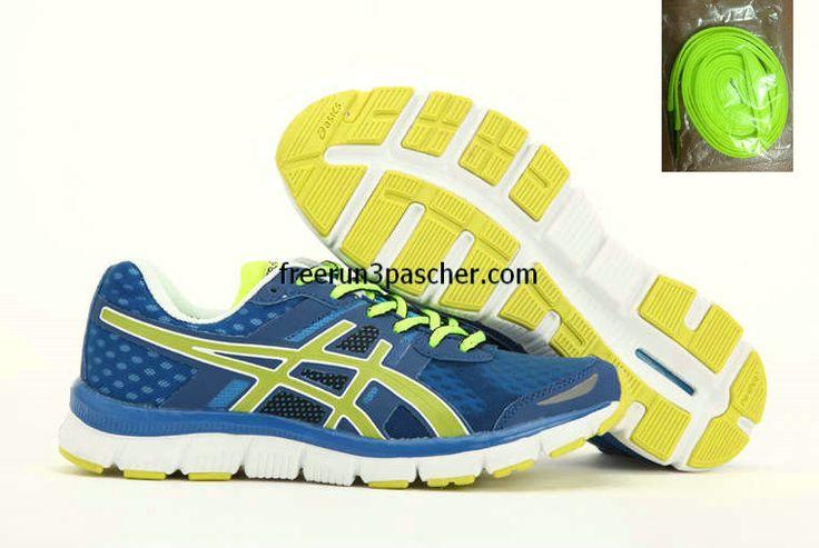 New Asics Gel Quik 33 Mens Duke Blue Lime Green White Fashion Shoes Shop 8b105242a315