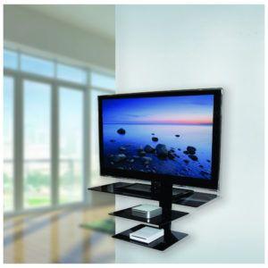wall mounted shelves for tv equipment http kyotofan info rh pinterest ie Shelves Under Mounted TV Wall Mounted Shelf above TV
