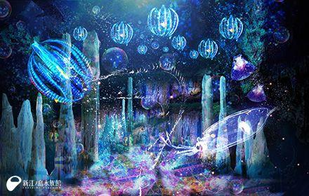 Projection mapping @ Enoshima aquarium 世界初「水族館内3Dプロジェクションマッピング」で深海世界を疑似体験! 夏休みは新江ノ島水族館「ナイトアクアリウム」へ出かけよう♪