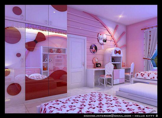 M s de 25 ideas incre bles sobre dormitorio de hello kitty for Cuarto para nina hello kitty