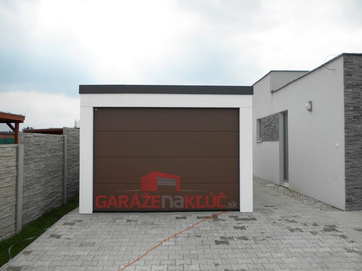 Modern prefabricated garage.