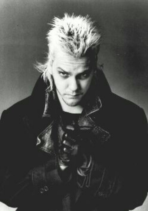 Keifer Sutherland as David (The Lost Boys) He was a hot Vampire! Gives Ed Cullen a run for his money! Lol!