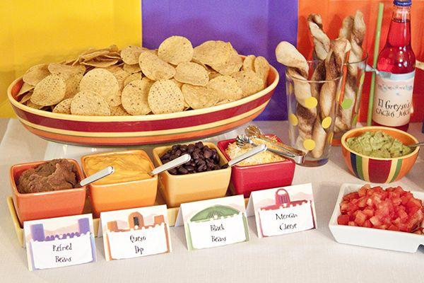 Food: Create-Your-Own Nachos Bar  {via Piggy Bank Parties}