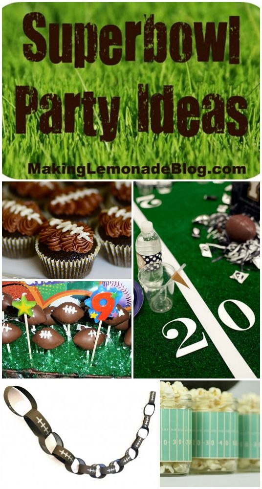 Superbowl Party Ideas!