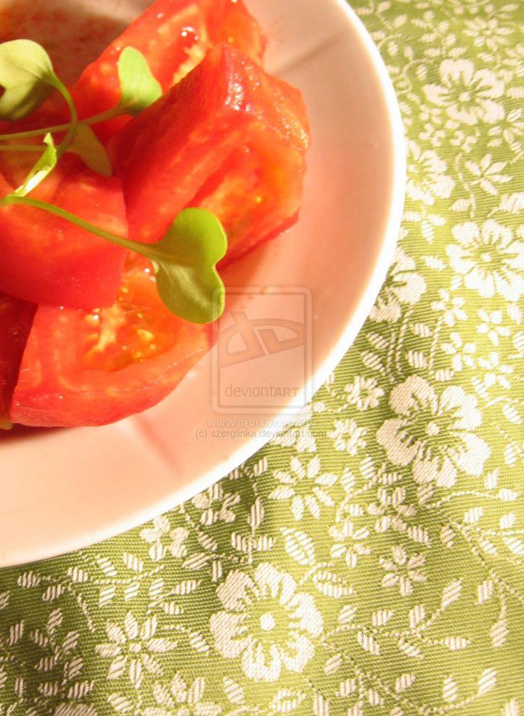 Tomato Salad with Rucola by szerglinka.deviantart.com on @deviantART