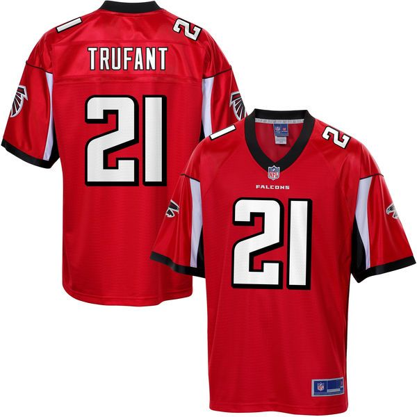 nfl pro line mens atlanta falcons desmond trufant team color jersey 99.99 limited mens red tani tupou home