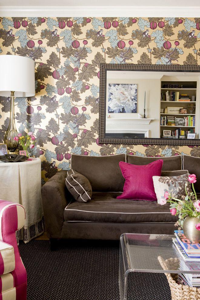 Best Hot Pink Living Room Floral Wallpaper Pink 400 x 300
