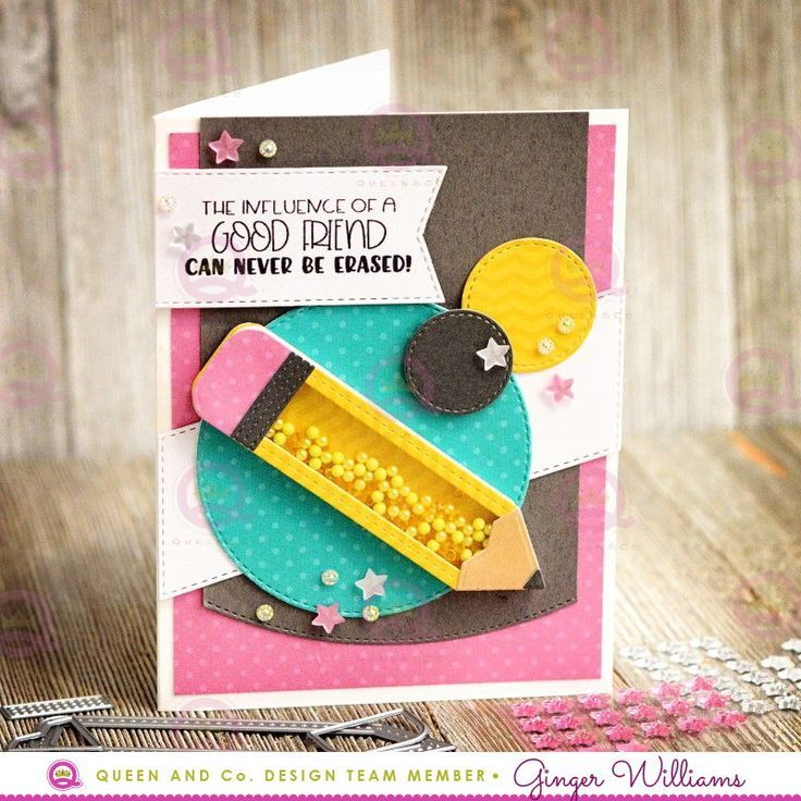 School Days Shaped Shaker Kit Shaker Cards Card Craft School Scrapbook