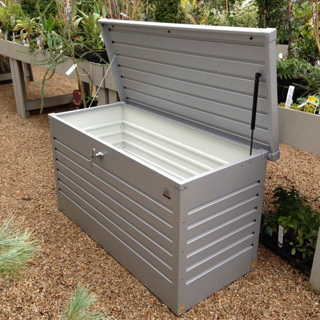The Biohort garden storage box is proving very popular here in Ireland: perfect for logs, cushions etc. http://www.dyg.ie/accessories/biohort-leisuretime-box-garden-storage