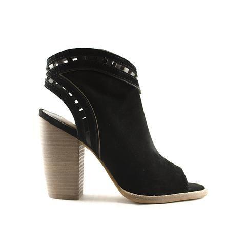 Everyone's favourite: full suede, stacked block heel Natasha