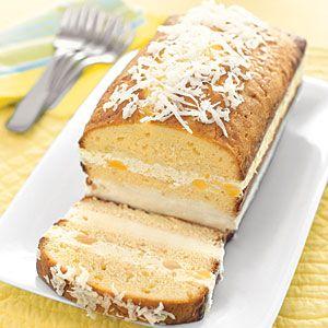 Piña Colada Ice Cream Cake   MyRecipes.com